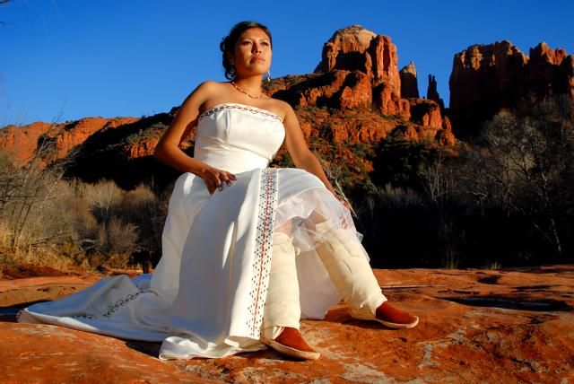 Navajo Wedding Modern White Dress With Moccasins If Im Seeing