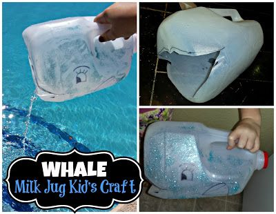 Diy Whale Milk Jug Kid S Craft Great For Water Play