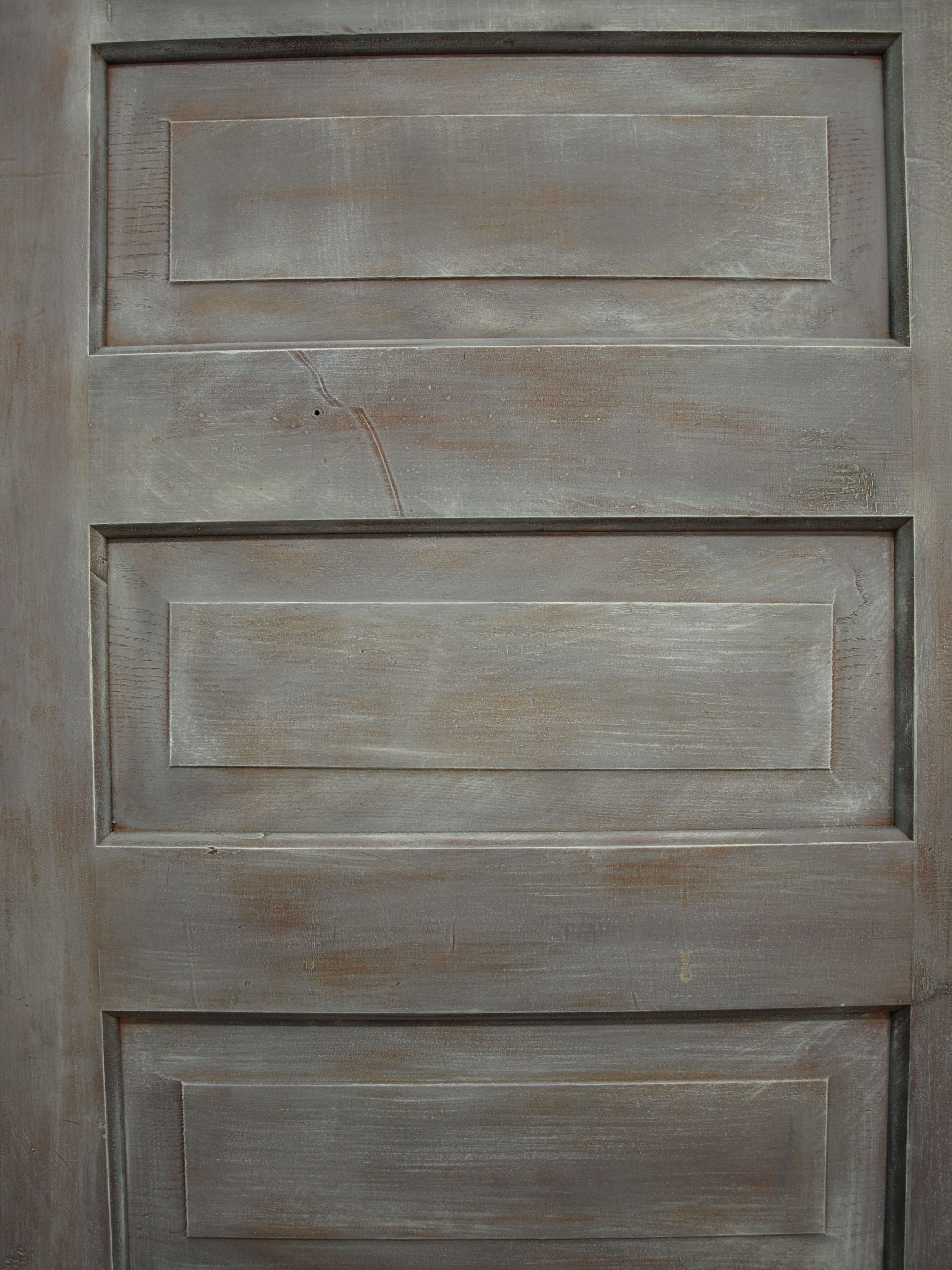 Six Panel Oak Door Dry Brushed With French Linen Coco And