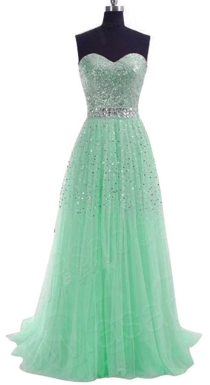 womenus long sequins prom formal evening dress love it
