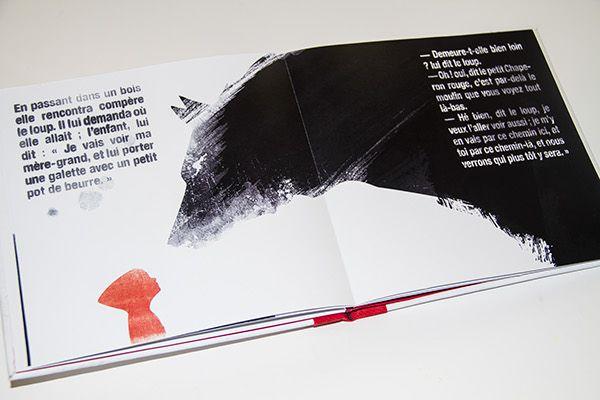 Le Petit Chaperon Rouge on Behance #LittleRedRidingHood #Chaperonrouge #wolf #illustration #book #red
