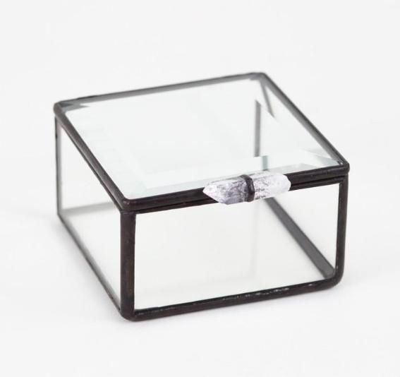 All of the glass used in Meg Myers' pieces is re-purposed from scavenged single-pane windows. This box is perfect for storing all your lovely little treasures!