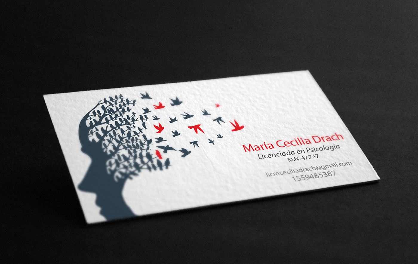Business Card For A Psychologist On Behance Psychologist Business Card Psychology Business Card Psychotherapy Business Cards