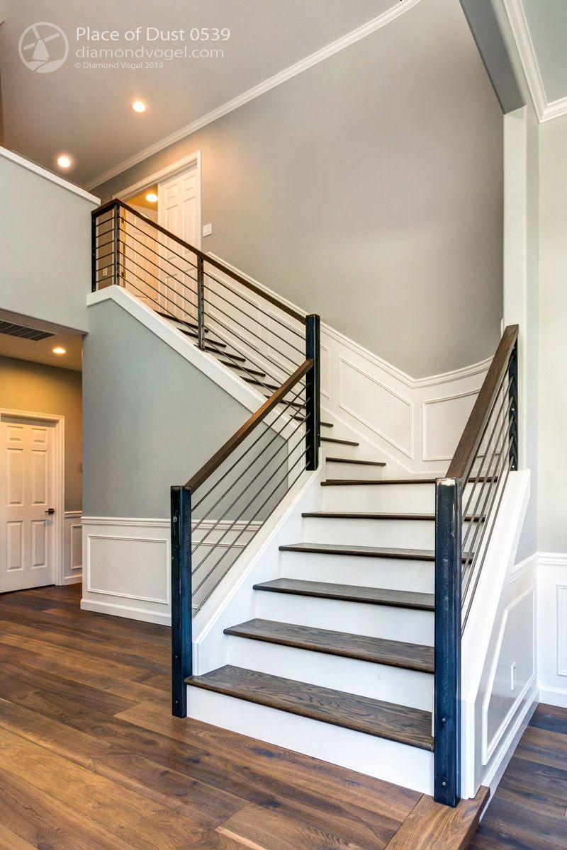 Painted Stair Railing Grey