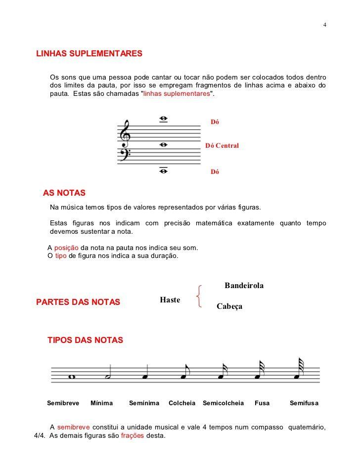 Apostila Teoria Musical Teoria Musical Teoria Da Musica Musical