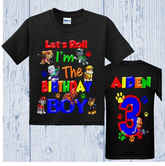 Paw Patrol Birthday Shirt All Characters By BirthdaysGalore