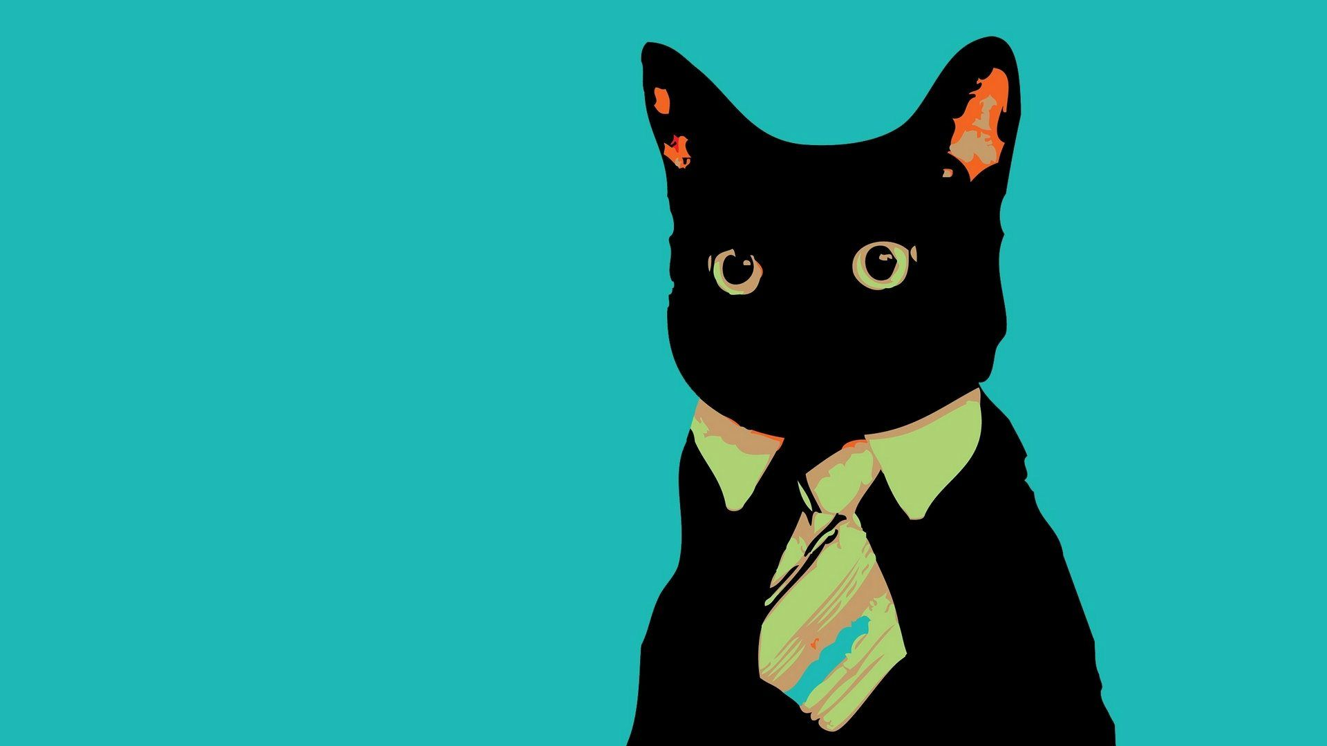 Cat Artwork Black Cat Art Hd Desktop Backgrounds Wallpapers