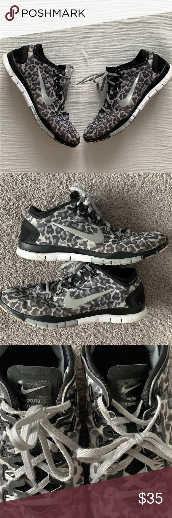 adefafce3815 Nike Free TR Connect 2 Leopard Fitness Sneakers NIKE Free TR Connect 2  sneakers in black