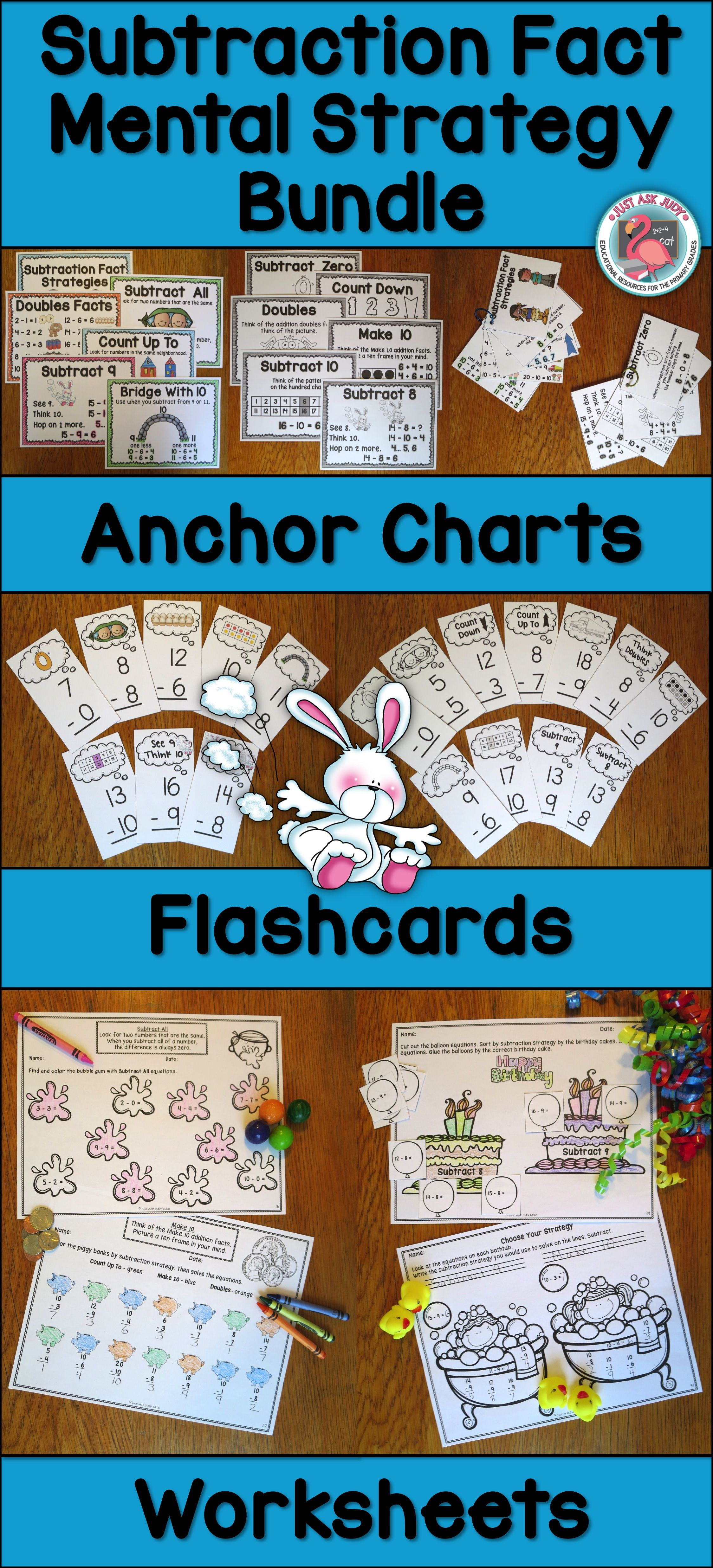 Subtraction Fact Strategy Bundle Of Anchor Charts