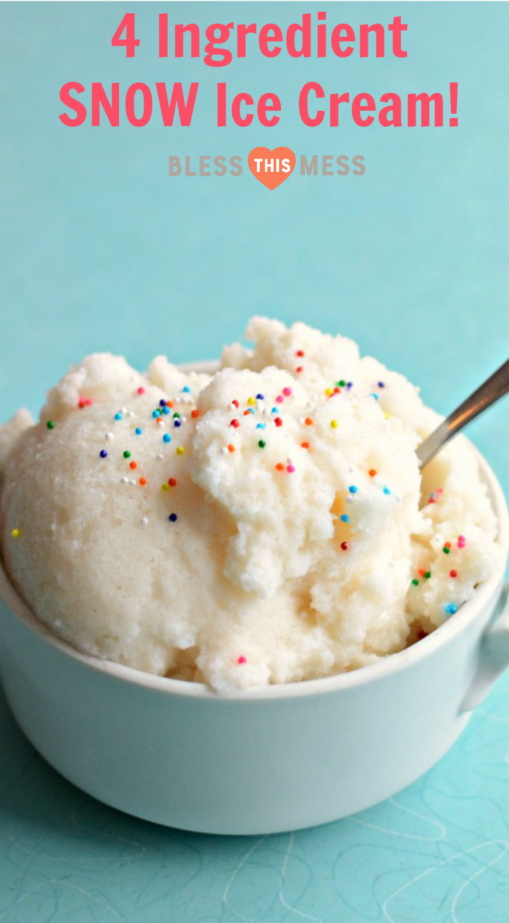 How To Make Homemade Ice Cream With Snow Recipe Snow Ice Cream Homemade Ice Cream Snow Icecream Recipe