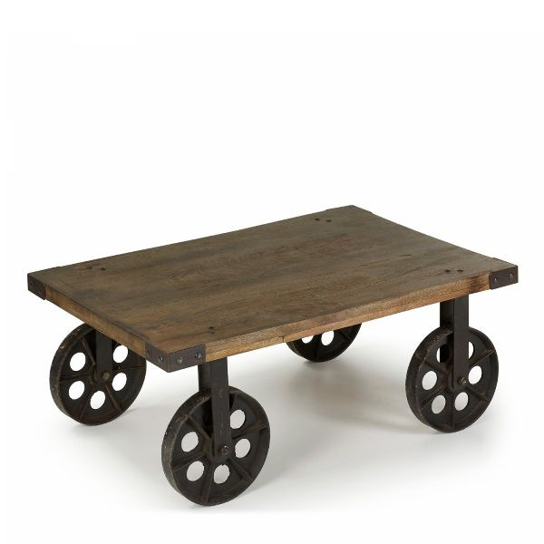 Rustic Coffee Table On Wheels Quincaillerie Pour Corde A Linge Rustic Coffee Tables Coffee Table With Wheels Cool Tables