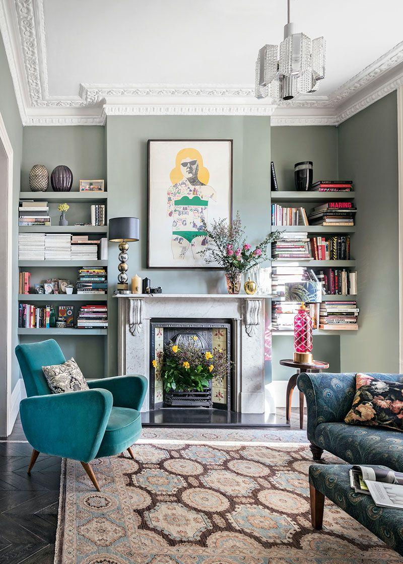 Elegant Modern Classics In Cool Tones In London Cosy Living Room