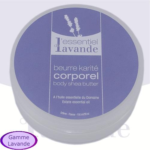 Beurre de karité corporel  à l'huile essentielle de lavandin du domaine L'Essentiel de Lavande - Crèmes corps (France)