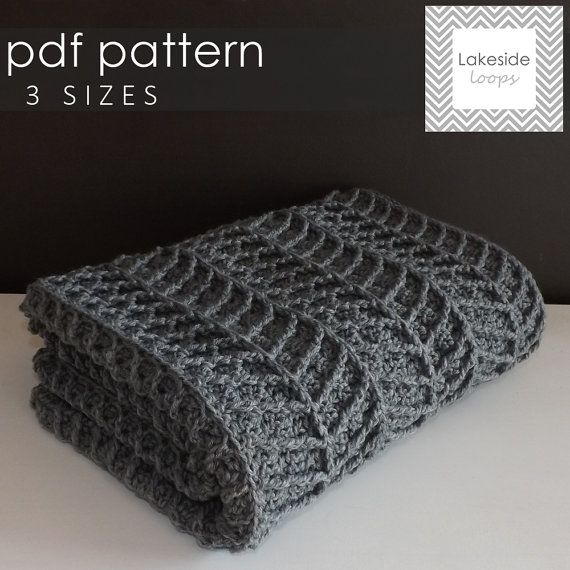 Modern, thick, and cozy . . this chevron crochet blanket pattern ...