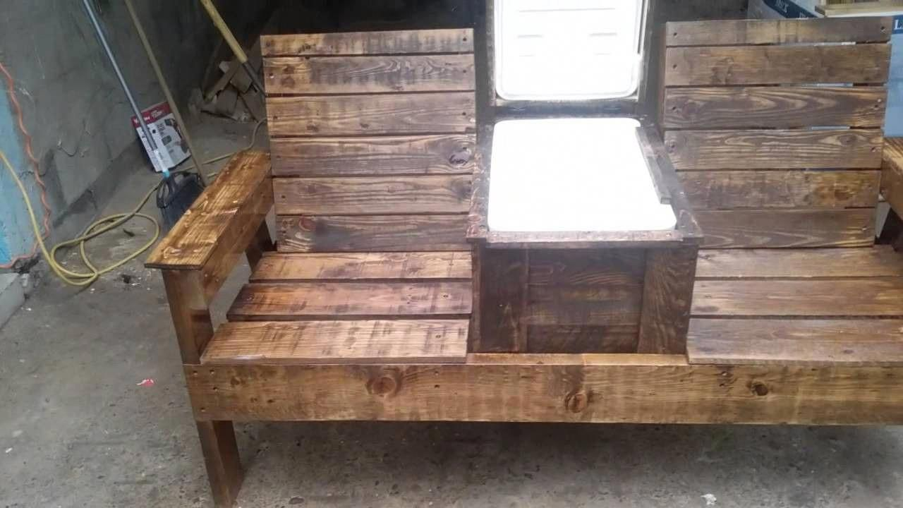 Double Adirondack Chair With Cooler Plans Cool Rustic Furniture