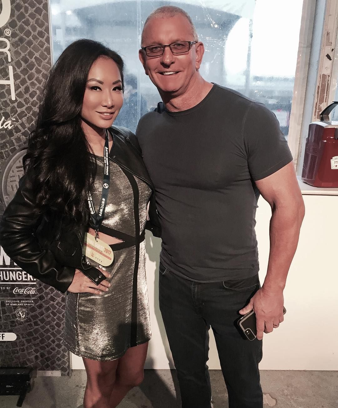 Gail Kim with know-it-all, Husband Robert Irvine