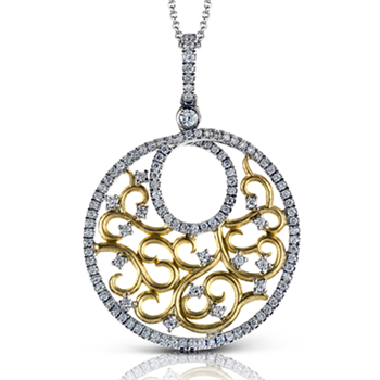 A gorgeous two tone diamond pendant is the perfect gift for an anniversary. birthday, or just because!