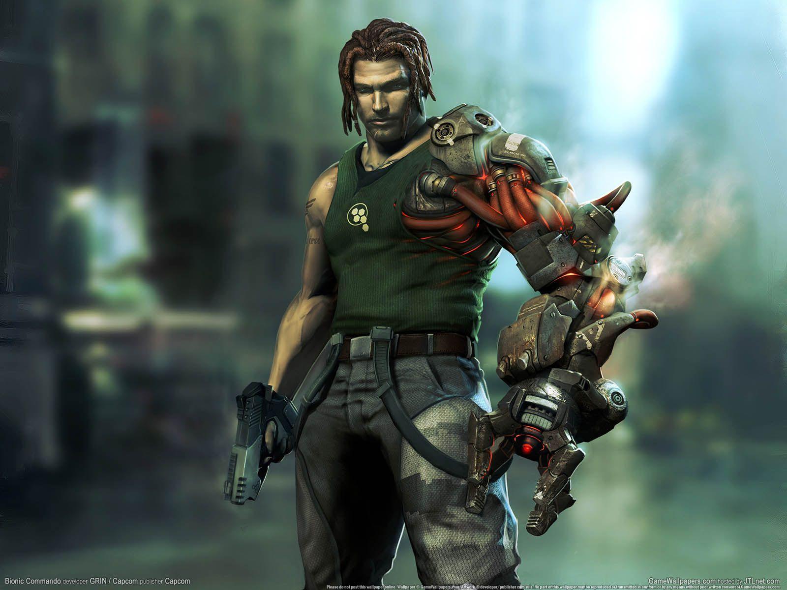 Bionic Commando art, Commando, games