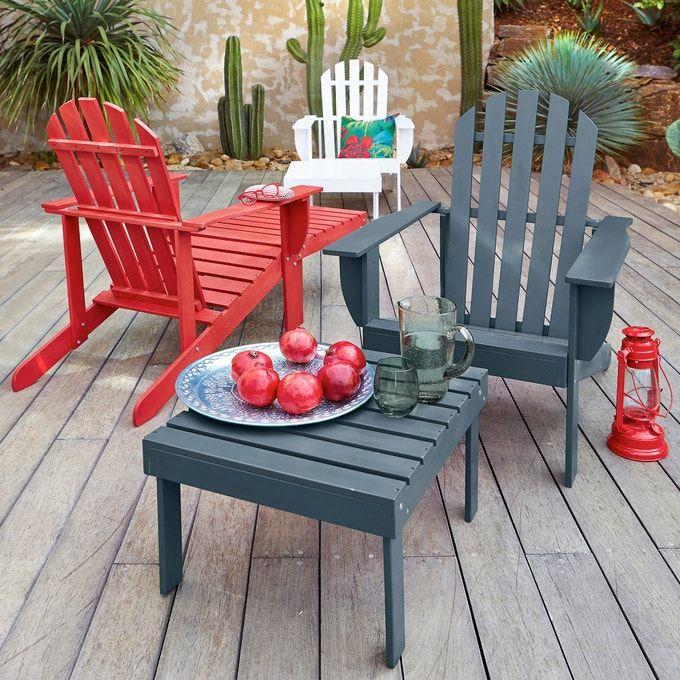 Zeda Adirondack Style Garden Chair in 2020 Garden chairs