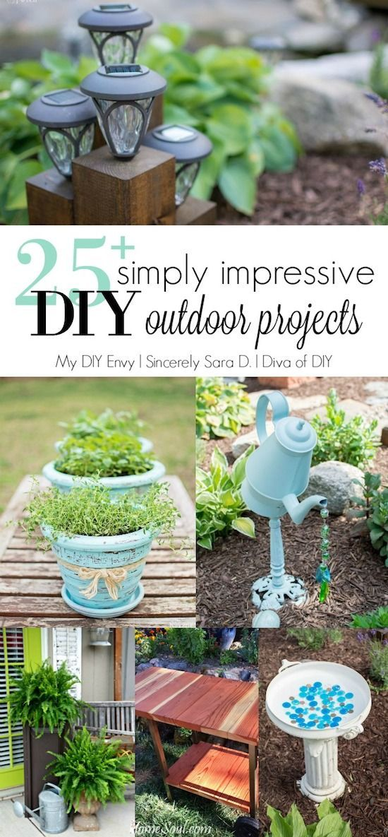 Outdoor Craft Ideas Gardens Part - 26: Talk DIY To Me Link Party #5 U0026 DIY Outdoor Ideas
