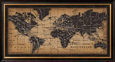 Old world map framed art print by pela at art parlor old world map framed art print by pela at art gumiabroncs Gallery