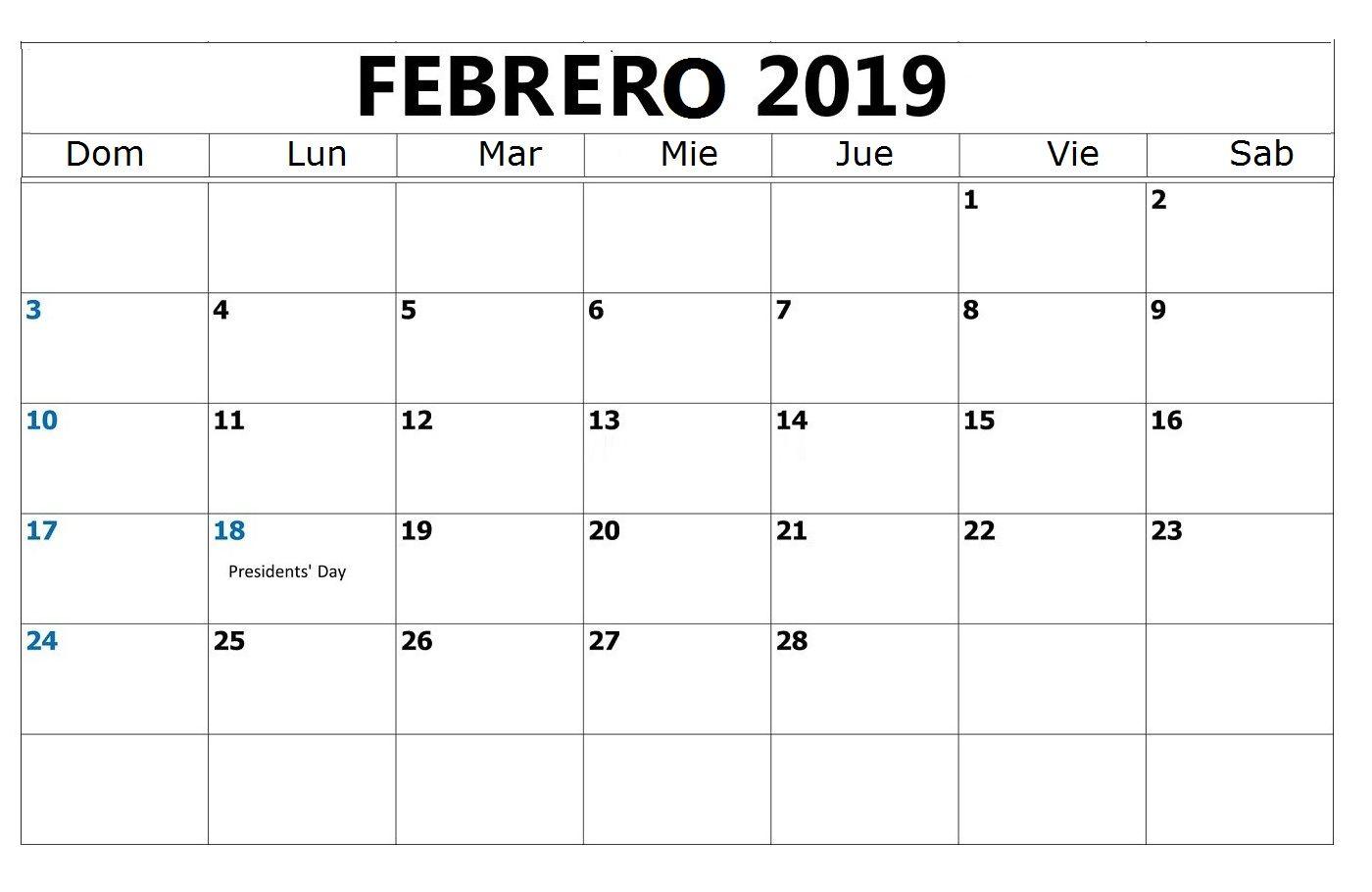 Calendario Febrero 2019 Usa February 2019 Calendario Febrero 2019 Para Imprimir Gratis #febrero #febrero2019