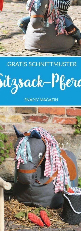 Kostenloses Schnittmuster f  r einen Pferde-Sitzsack   Snaply-Magazin   #ContemporaryArt #einen #f  r #Kostenloses #PferdeSitzsack #Schnittmuster #SnaplyMagazin