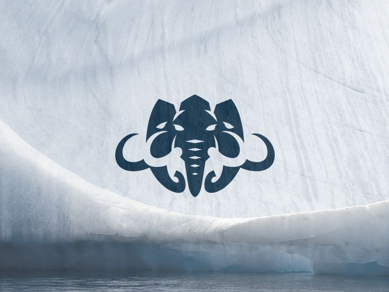 Mammoths clan by Kreatank #logo #logos #mammoth #mammoths #head #tusk #primal #iceage #snow #elephant #mamut #emblem #badge #shield #negative #space #sports #sport #gym #fitness #kreatank
