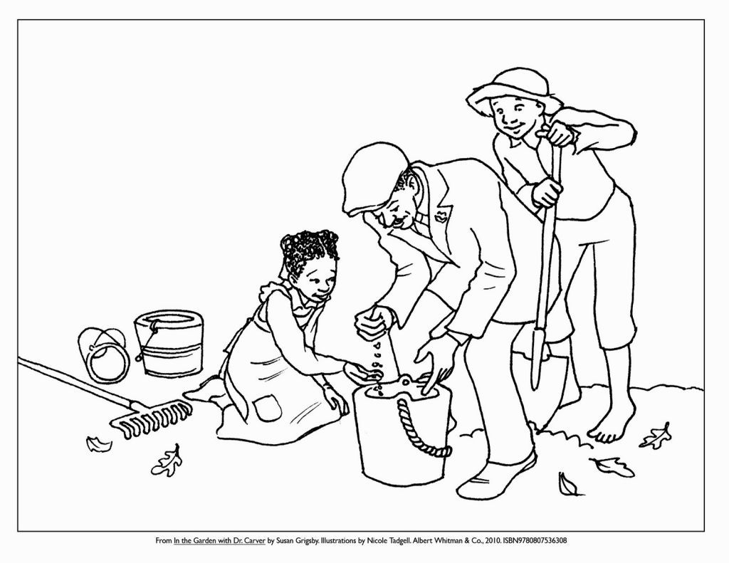 George Washington Carver Coloring Page With Images