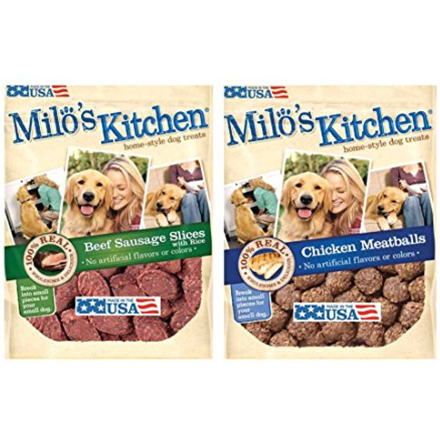 milos kitchen catskill craftsmen island milo s bundle chicken meatballs and beef sausage dog treats 18 oz each the details can be found by clicking on image