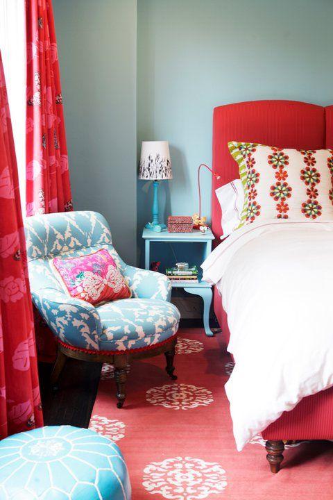 Girl S Rooms Madeline Weinrib Atelier Red Mandala Rug Moroccan