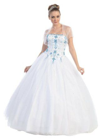 Ball Gown Strapless Formal Prom Wedding Dress #2742