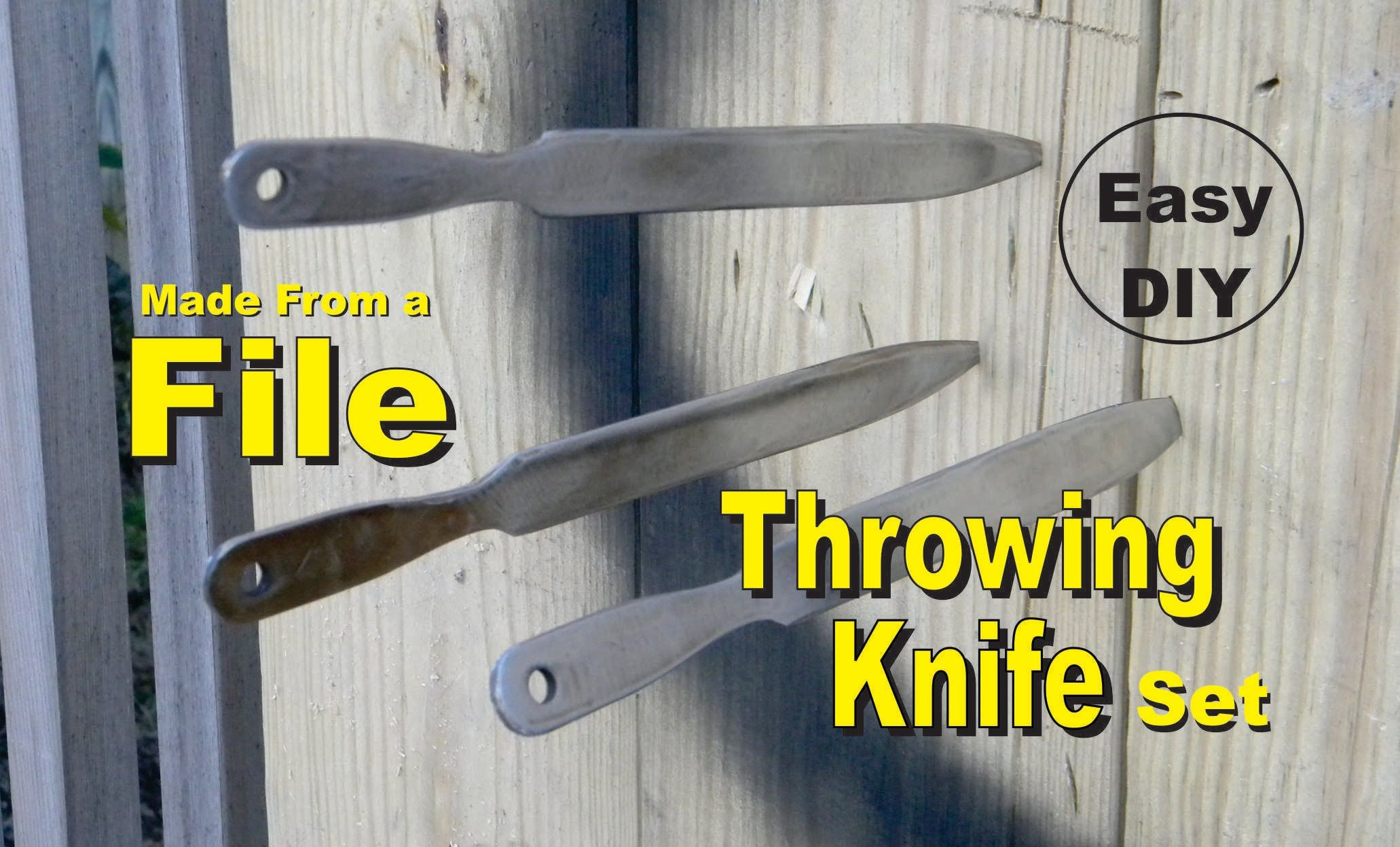 How to make a throwing knife from a file easy diy project