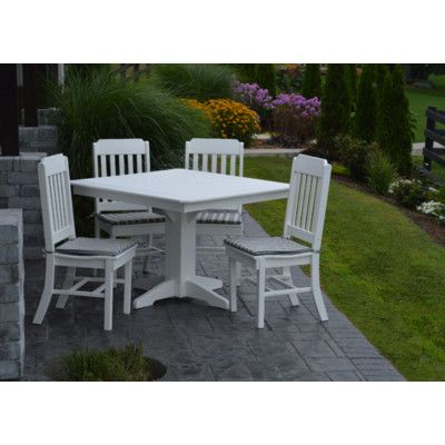 A&L Furniture 5 Piece Poly Dining Set