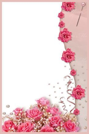 Image Du Blog Zezete2 Centerblog Net Floral Border Design Flower Frame Flower Background Wallpaper