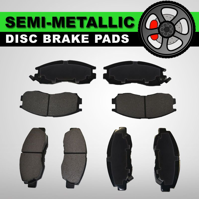 Front Rear Semi Metallic Brake Pads 2 Sets Ford E 450 Super Duty Econoline Brake Pads Ceramic Brake Pads Chevrolet Trailblazer