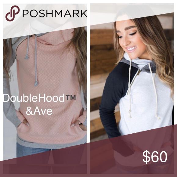 7d8fb15a7b Genuine Ampersand Ave DoubleHood™ Hoodie Genuine Ampersand Avenue Hoodie -  Olive Accent. This hoodie has a slim and long look.