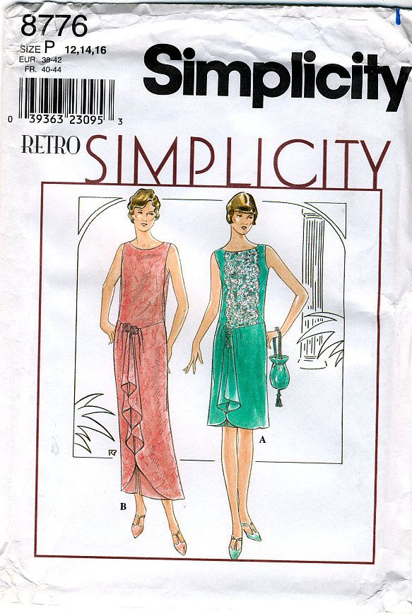 Simplicity 8776 Retro 1920s Reproduction Misses Flapper ...