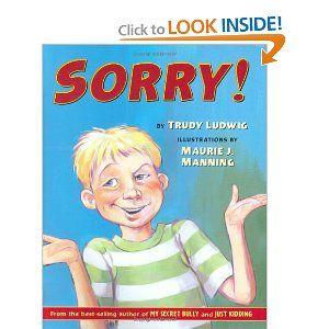 This book is an awesome way to teach children how to genuinely apologize! Love it!