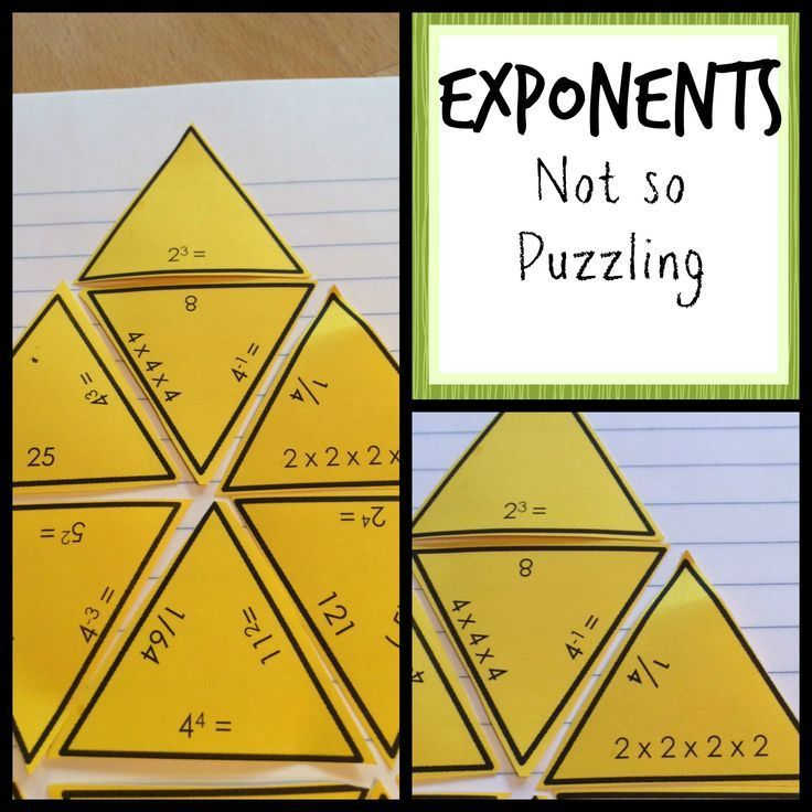 Exponents Puzzle Activity Exponents, Simplifying