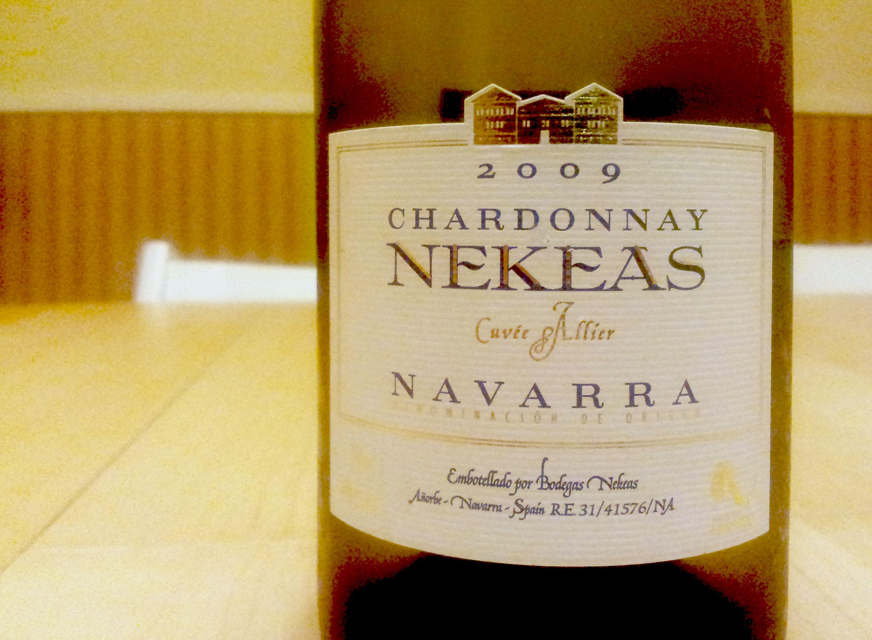 Nekeas, Chardonnay Cuvee Alier.  Uno de los grandes de Navarra ...y del mundo!