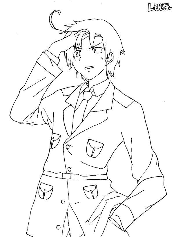 anime hetalia coloring pages - photo#18