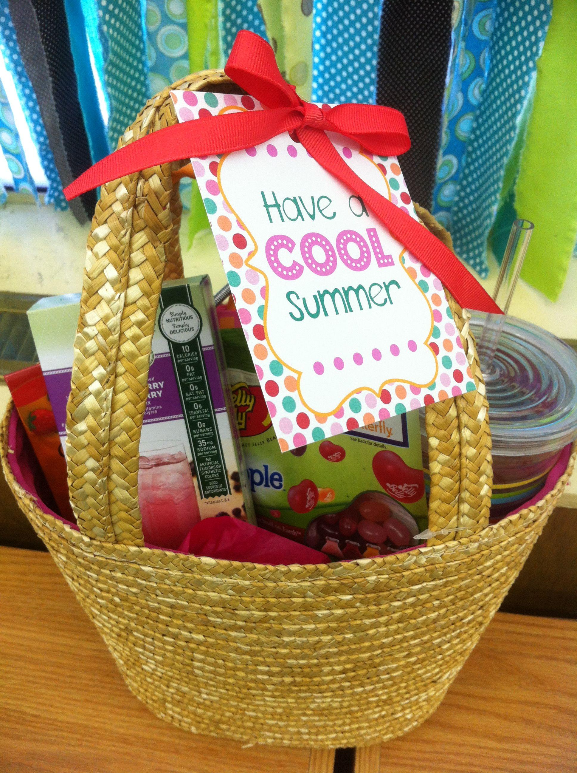 "Have a ""Cool"" summer gift basket idea: reusable tumbler ..."