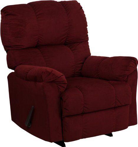Flash Furniture Am 9320 4170 Gg Contemporary Top Hat Berry Microfiber Rocker Recliner Furniture Contemporary Furniture Rocker Recliner Chair