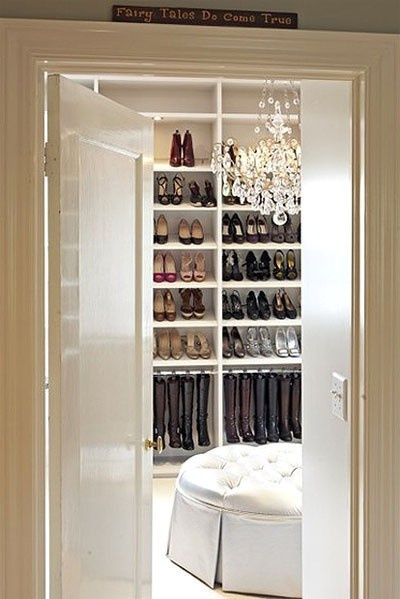 closet just for shoes... my girls would love this!!