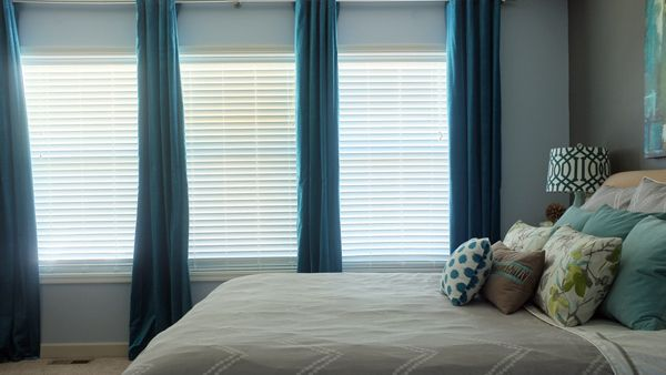Love These Ikea Sanela Dark Turquoise Curtain Panels So Beautiful During The Day And At Night They Make Room Pitch Black