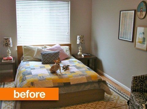 Before After 3 Easy Inexpensive Ideas For Making Any Room Look Larger