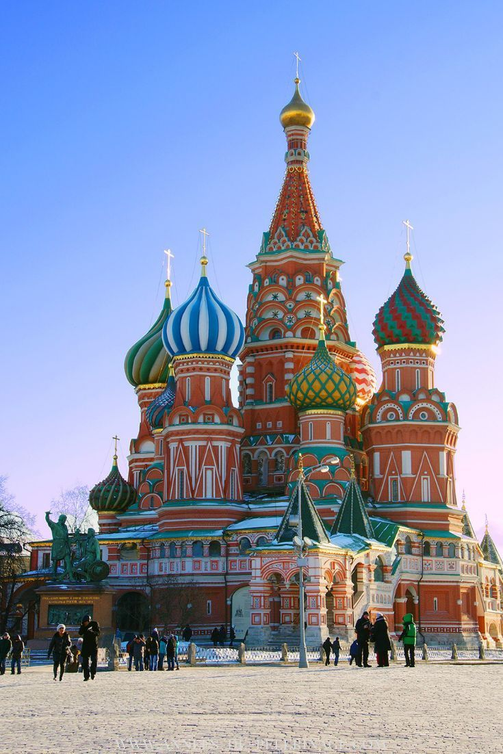 The amazing St. Basil's Cathedral in Moscow, Russia at the far end of the famous Red Square. #photography #travel #russia #travelguide #wanderlust #architecture #explore #bucketlist #travelblog