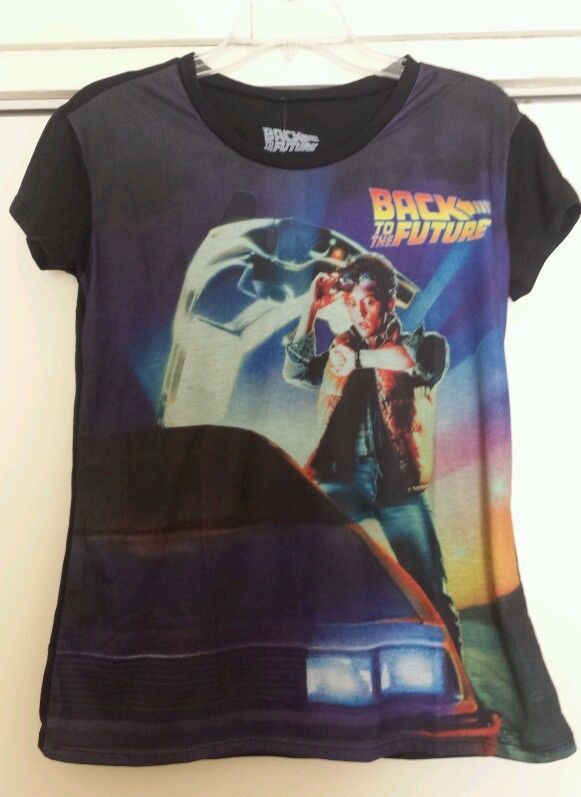 c424ddb24 Back to The Future Movie Poster Women's Shirt Top Marty McFly Delorean  #BacktotheFuture #GraphicTee - SOLD