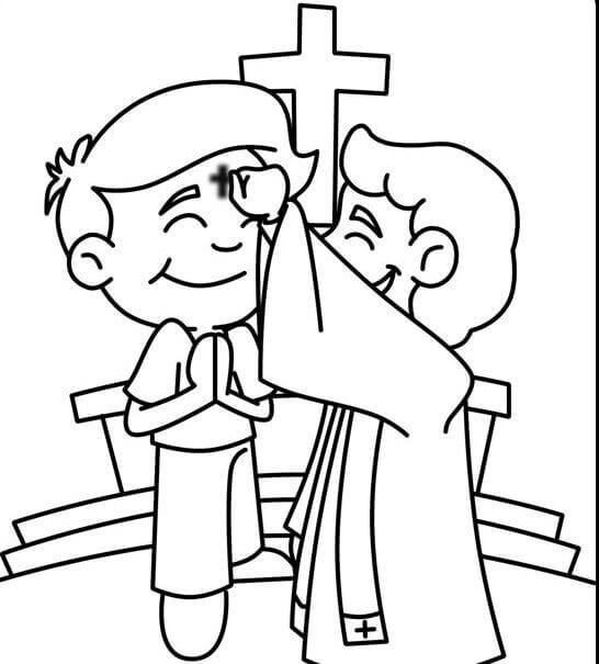 ash wednesday coloring pages # 8